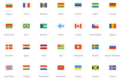 Flags Icon Pack бесплатный набор баннер нация страна бесплатно png