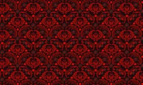 дамасской узор красный