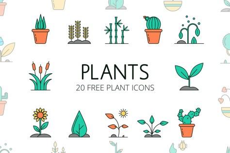 Растения Вектор Бесплатный Icon Set