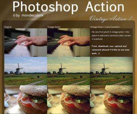 Винтажный Photoshop Action I