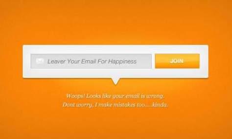 Классная электронная почта подписчика PSD