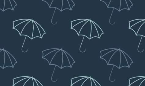 Узор синие зонтики
