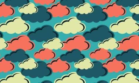 разноцветные облака шаблоны бесплатно