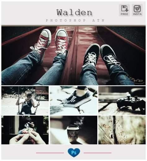 Instagram Walden Photoshop Action