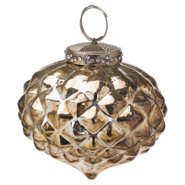 The Noel Collection Burnished Textured Small Hanging Bauble