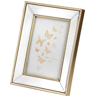 Small Rectangle Mirror Bordered Photo Frame 4x6