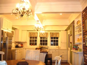 designed to center island into the kitchen space.accent the elligance of this turn of the century home