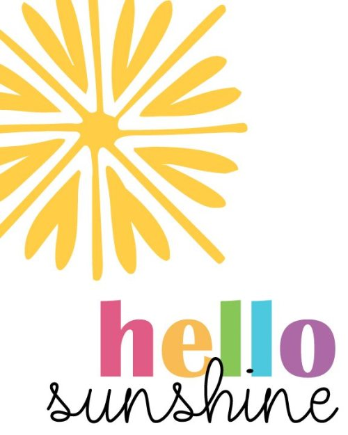 FREE Printable: Hello Sunshine! (4 Different Design Options!)