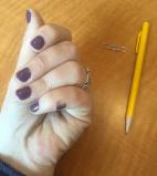 Plum Nail Polish work