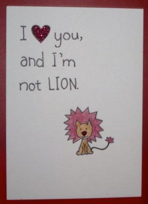 Lion Lover Valentine