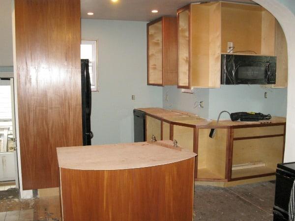 Installing custom cabinets