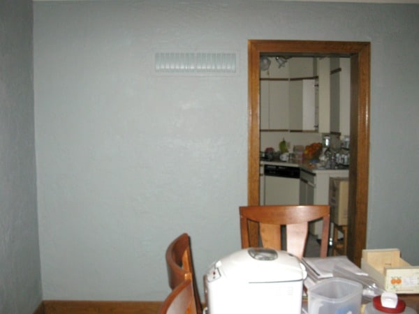 Remodeling the kitchen ~ Before removing the wall