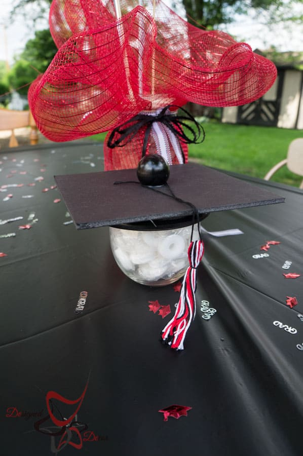Graduation Party Planning- DIY-CupCake Stand-Table Decorations-Photo Booth-13