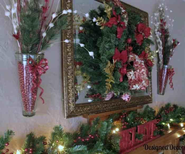 decorating the mantel