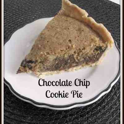 Tantalizing Tuesday – Chocolate Chip Cookie Pie