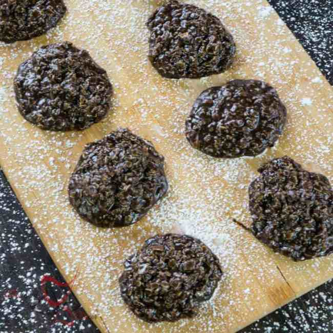 Chocolate Oatmeal No Bake Cookies-4
