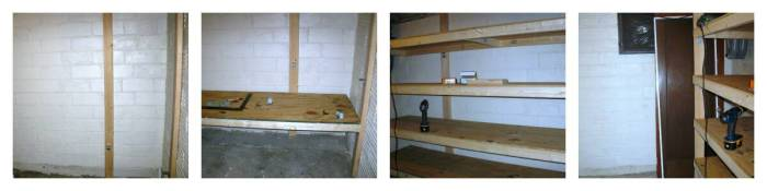 storage room building shelves
