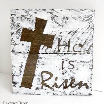 """""""He is Risen"""" Wood Plaque"""