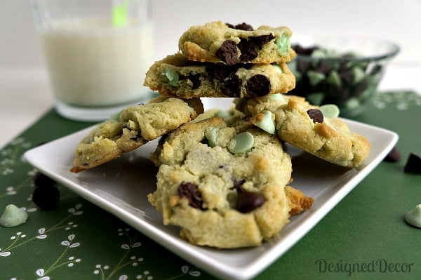 Mint Chocolate Chip Cookies 2