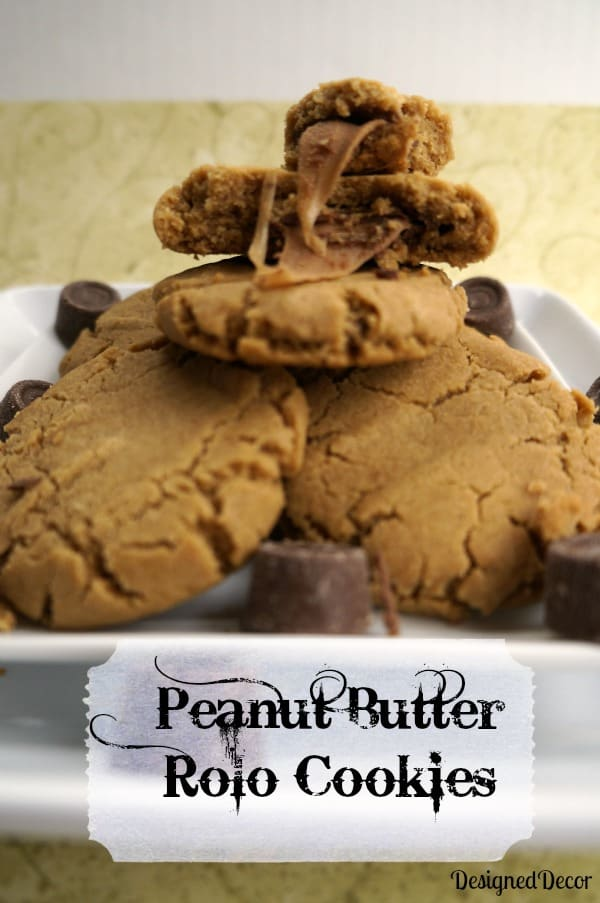 Peanut Butter Rolo Cookies -Holiday Cookie Round-up