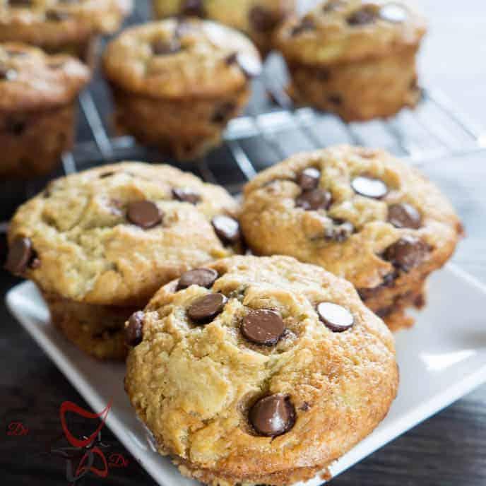 Chocolate Chip Banana Muffins!