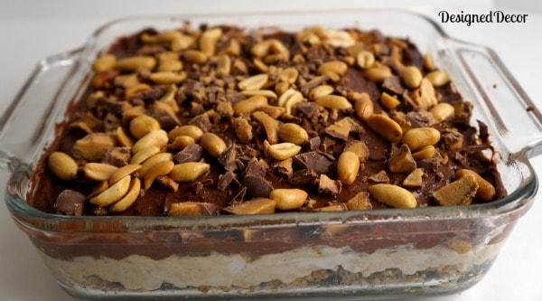 completed peanut butter dessert
