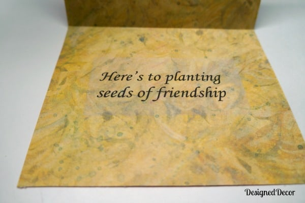 Planting seeds of friendship quote