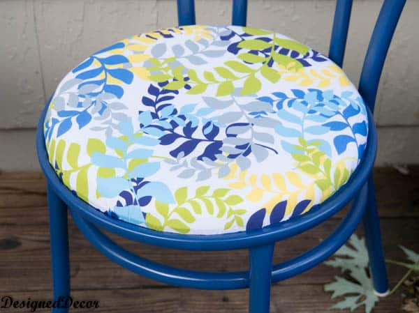 Patio Chair Cushion Makeover