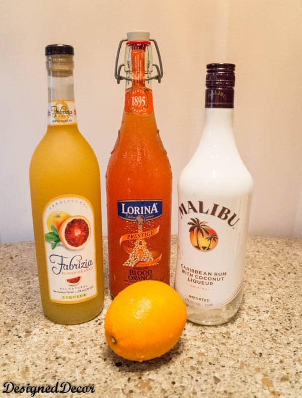 Blood Orange Sparkling Soda