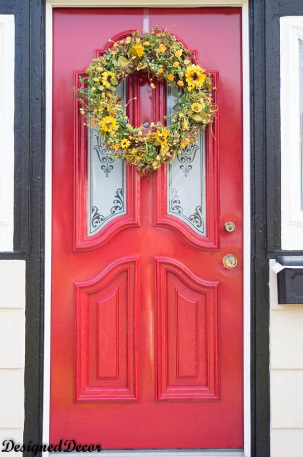Sweet Hannas Fall Silk Door Wreath