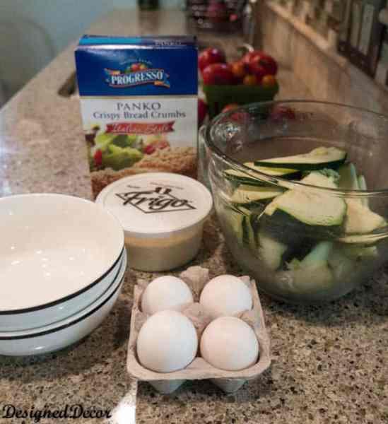 Fried Zucchini ingredients