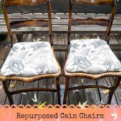 Repurposed Wood Chairs!