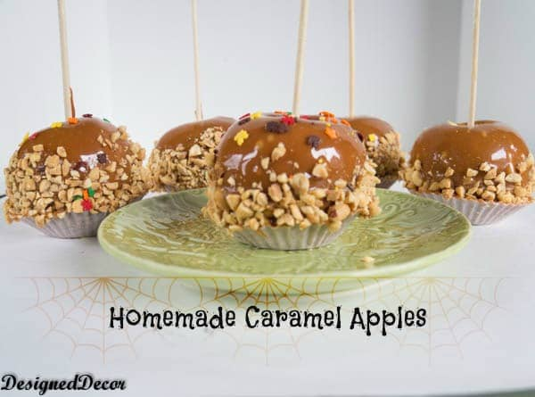 homemade caramel apples-www.designeddecor