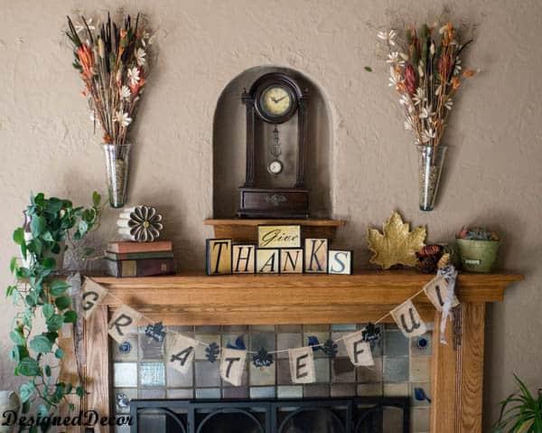thanksgiving mantel 2013