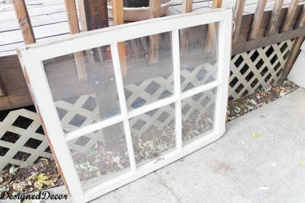 Old wood window before