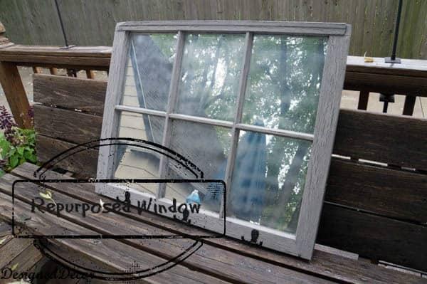 6 pane Window repurposed wood window