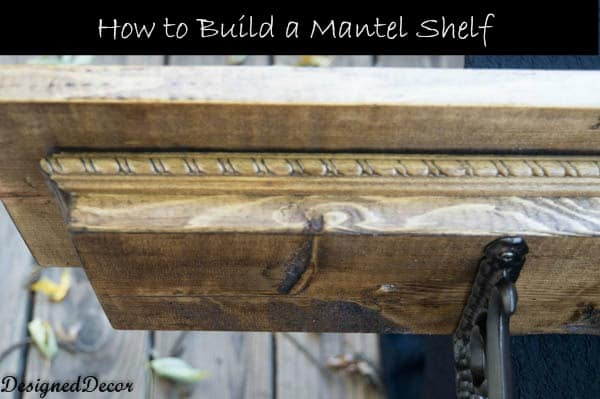 Building a mantel shelf designed decor for How to build a wooden table from scratch