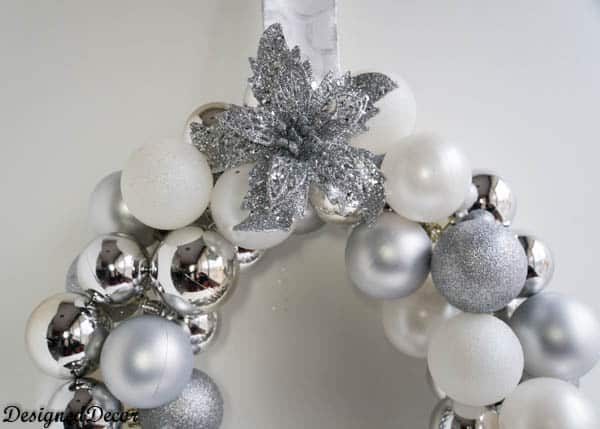 Ornament Bulb Wreath- www.designeddecor.com