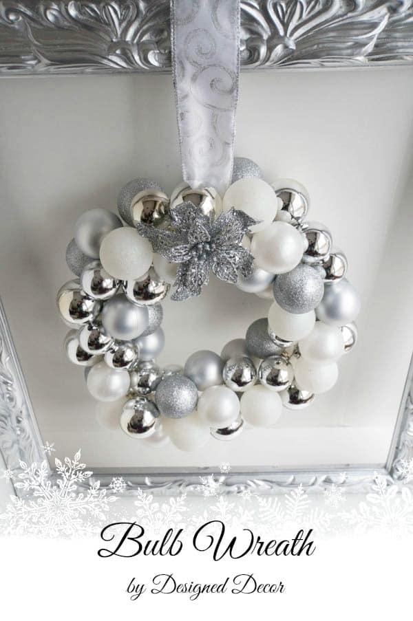 Silver Bulb Wreath- www.designeddecor.com