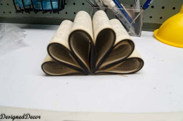 repurposed book flower