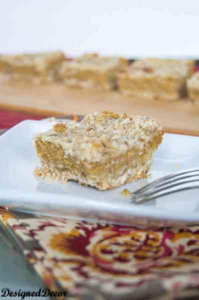 Pumpkin Bars with Cream Cheese - www.designeddecor.com
