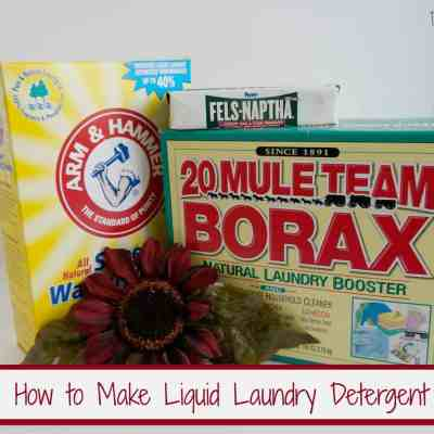 How to Make Laundry Detergent!