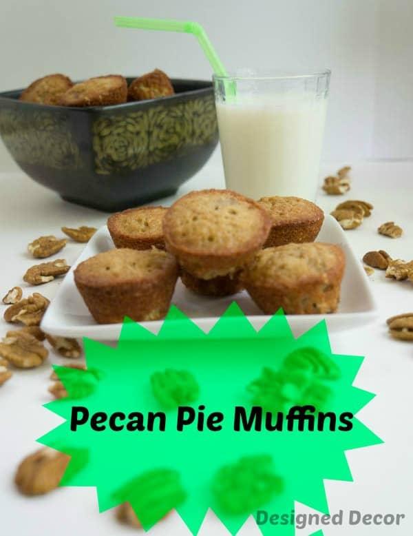 Pecan Pie Muffins ~ www.designeddecor.com