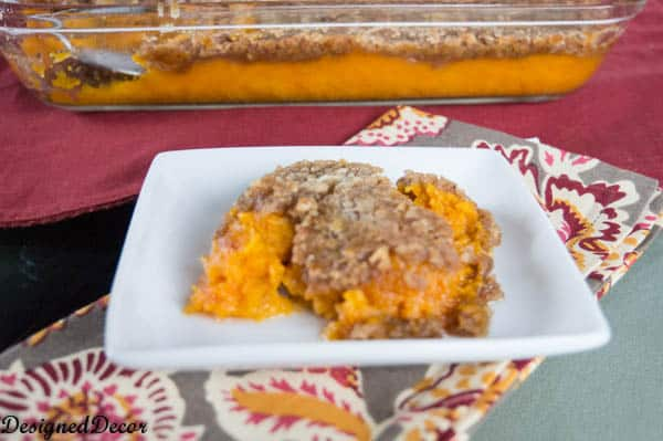 Made with fresh sweet potatoes ~ Sweet Potato Casserole