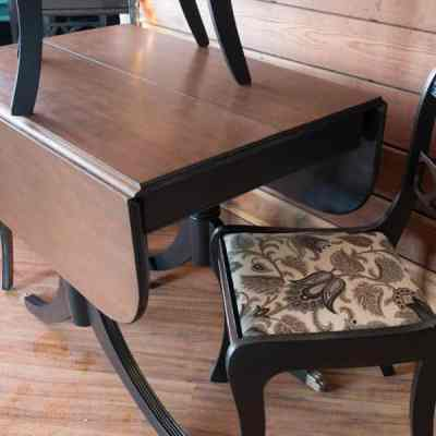 Duncan Phyfe Drop Leaf Table Makeover!