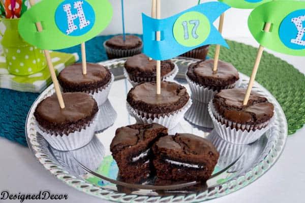 Oreo Brownie Cupcakes- https://designeddecor.com