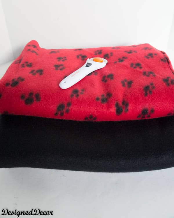 No Sew Blanket supplies