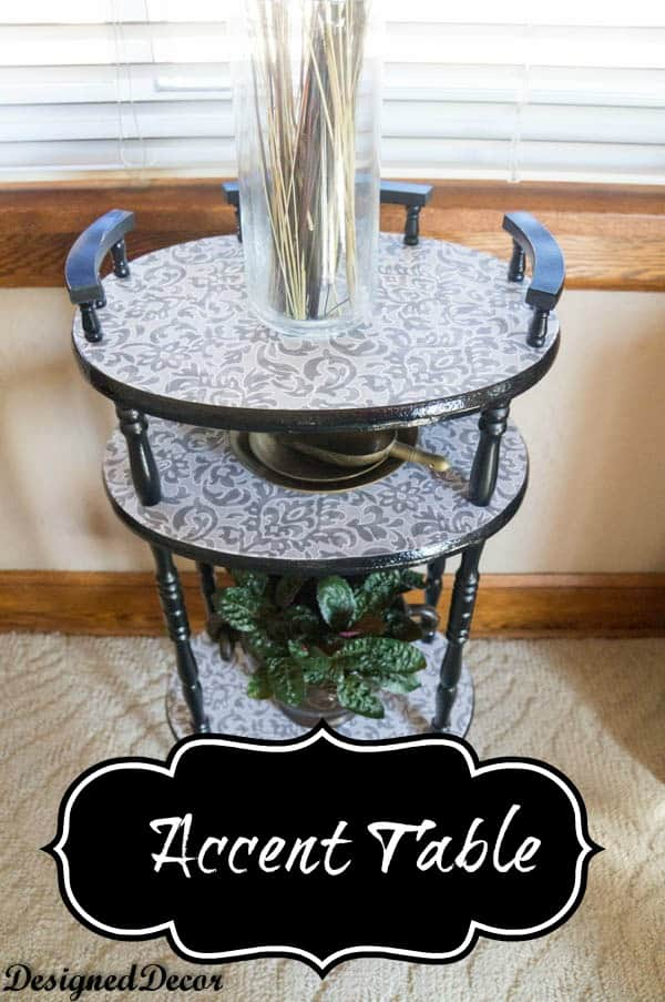 Spray Painting an Accent Table