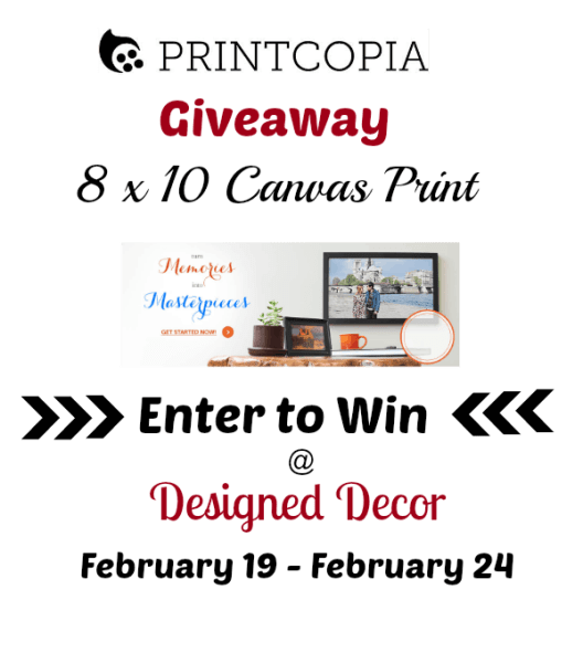 Printcopia 8x10 Canvas Print Giveaway @Designed Decor Enter to Win!