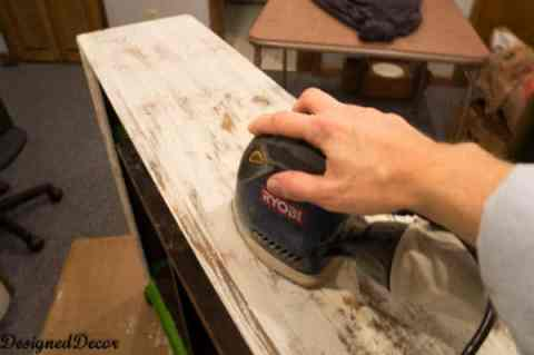 Sanding to get a shabby Antique look